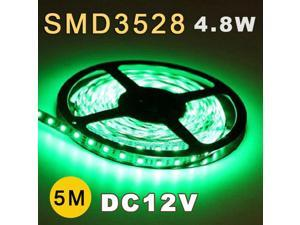 5M 3528 SMD 60 Flexible Fairy LED Strip Lighting Tape Roll 12V Green