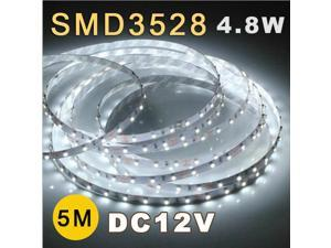 5M 3528 SMD 60 Flexible Fairy LED Strip Lighting Tape Roll 12V White