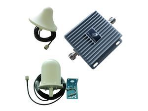 GSM 3G cellphone signal booster dual band 850/1900mhz repeater amplifier cover 300-800 square meters