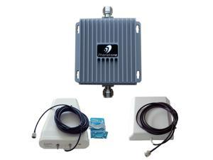 Cell Phone Signal Booster Repeater Dual Band 850MHz  1700mhz 2G AWS 3G  Amplifier Complete Set 65dB High Gain