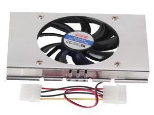 12V Sleeve Silver 3.5 Hard Disk Drive Hdd Cooling Fan Lower Noise 10.05 CFM