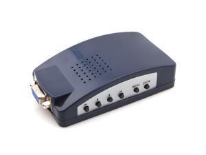 New PC VGA to S-Video AV RCA TV Out Splitter Video Converter Box Adapter