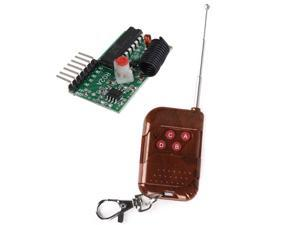 fixed code 4 Channels RF Wireless Radio Controller Remote Control 433MHZ