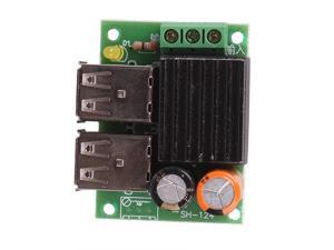 DC-DC 12V to 5V 4 USB Car Charger Power Supply Buck Module for Phone Navigation