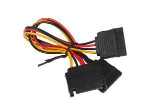 New 15cm 15 Pin SATA Male to 2 SATA Female Splitter Power Cable Adapter