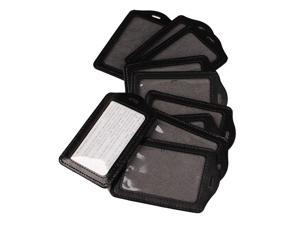 10Pcs Black Business ID Card Badge Holder Vertical for office worker Students