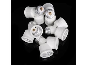 1 x E27 to 2x E27 Light Lamp Bulb Socket Splitter Adapter Converter 5PCS/lot