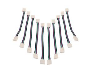 New 10X RGB 5050 Led Strip lights 4 pin 10mm Connector Adapter Double head Cable