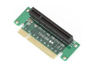 Green PCI-Express 8X Riser Card 4 Circuit Board Adapter