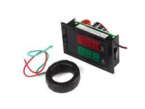 AC 80-300V 200A Amp Volt LED Meter Current Transformer Digital Dual Display