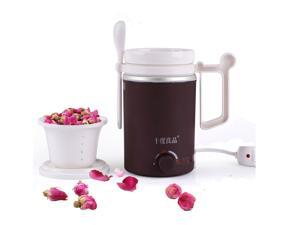 SEED 916   Electric Ceramic  heated cup ceramic Mug With Filte  Soup Pot for Office Lady Maternity And Baby 14 Ounce