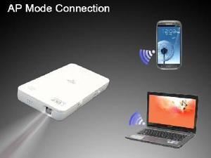 Mini remote control Wireless WiFi Mobile Projector For Smartphone Tablet 2200mAh Power Bank