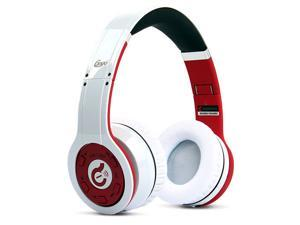 Syllable Wireless Bluetooth Noise Reduction Cancellation Headphone headset Foldable Holder ABS Material G08 White_Red