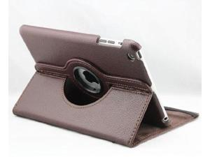 "Euroge Tech Premium PU Leather 360 Degree Rotating Stand Case Cover for Apple iPad Mini 7.85"" inches (Brown)"