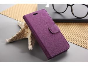 Euroge Tech® Litchi Skin Flip Leather Pouch Stand Cases Cover For Google Nexus 5(Purple