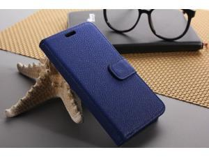 Euroge Tech® Litchi Skin Flip Leather Pouch Stand Cases Cover For Google Nexus 5(Navy)