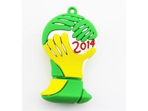 Newest Cute 2014 Brazil World Cup Full Capacity USB2.0 Flash Drive 8GB 8G Memory Stick Pendrive Football Pen Drive U Disk