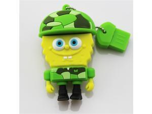 Genuine Capacity 8GB 8G Cartoon SpongeBob Memory Stick Pen Drive Usb Flash Drive Pendrive USB Drive