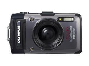 Olympus Tough TG-1 iHS Waterproof Digital Camera, Dark Silver TG-1iHS