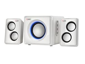 Sykik Sound Bluetooth Wireless SP0232WE 2.1 Ch Multimedia Speaker System White