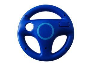Exquisite Mini Steering Wheel for Wii MARIO KART Racing Games Dark Blue