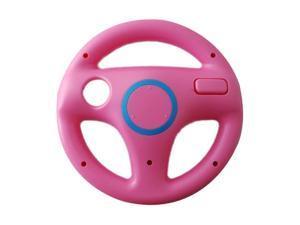 Mini Game Steering Wheel for Nintendo Wii MARIO KART Racing Games Pink