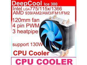 120mm fan 4pin PWM, 3 heatpipe, side-blown, Intel LGA1366/115x/775, AMD FM1/FM2/AM3/AM2, CPU cooler, CPU cooling DeepCool ...