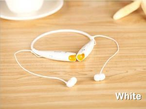 Wireless Bluetooth Stereo Headphone Headset for HTC iPhone Mobile Phone White