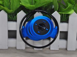 Mini Wireless Bluetooth Stereo Headphone Headset for Mobile Phone Foldable BLUE