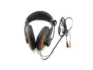 New 3.5mm Headphone Headset Microphone for PC Laptop Computer Black with microphone