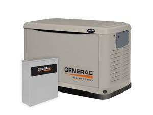 6241 14kW Guardian Series Air-Cooled Standby Generator, Steel Enclosure, 200Amp Service Rated Automatic Switch