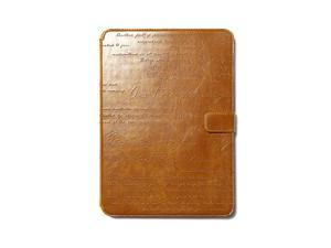Zenus Lettering Diary Case for Samsung Galaxy Note 10.1 2014 Edition - Brown