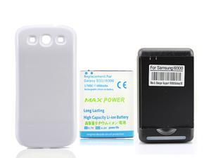 YIBOYUAN 4500mAh Extended Replacement Battery with Back Cover and Charger For Samsung Galaxy S3 i9300 i747 i535 Cell Phone, ...