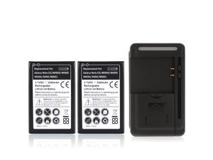 YIBOYUAN 2pcs 3500mAh Replacement Battery with USB Wall Charger for Samsung Galaxy Note 3 III N9000 N9005 N900A N900 N9002 ...