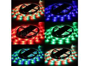 5M 3528 RGB Waterproof Flexible Strip 300 LED Light 24 Keys IR Remote Controller