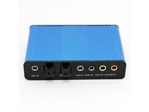 USB External Sound Card Mini Laptop Computer  USB 6 Channel 5.1 Optical Controller Audio Sound Card S/PDIF