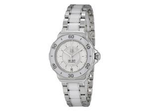 Tag Heuer Formula 1 Diamond Accented White Ceramic Ladies Watch WAU2211BA0861