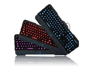 AULA Dragon Tooth USB 3 Color Backlit LED Illuminated Gaming Keyboard For PC Computer