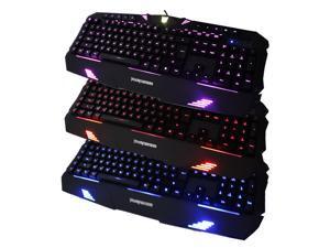 AULA New 3 Color Backlit Backlight Progammable Wired Gaming Keyboard - Transformer Megatron License Logo For PC Laptop