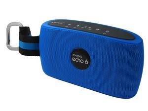 XWAVE echo 6 6W Hi-Fi Portable Wireless Bluetooth Speaker with Built-in Microphone 12 hour Rechargeable Battery Color (Blue)