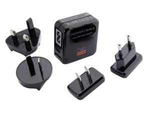 Yoopoo Dual USB Power Adapter Wall Charger 5V 2A 10W Black