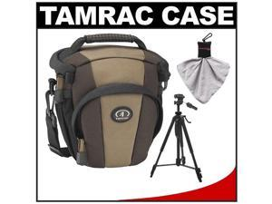 Tamrac 5714 Evolution Zoom 14 Digital SLR Camera Holster Case (Brown/Tan) with Photo/Video Tripod + Accessory Kit