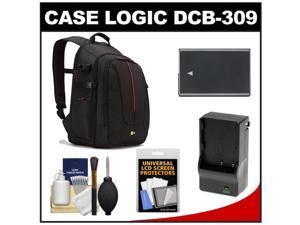 Case Logic DCB-309 Digital SLR Camera Backpack Case (Black) with EN-EL14 Battery & Charger + Accessory Kit for Nikon D3100, ...
