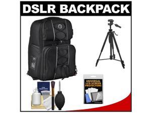 M-ROCK Double Access 6030 Arches Laptop & DSLR Camera Sling Backpack Case (Black) with Case + Tripod + Accessory Kit