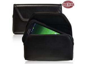 Turtleback Premium High Quality Bonded Leather Holster Case Pouch with Metal Belt Clip fits Samsung Galaxy S4 IV with Ballistic ...