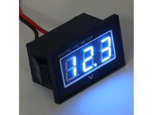 Waterproof Voltage Monitor 12V 24V Volt Battery Meter 3.0-30V DC Auto Gauge Small Digital Voltmeter Blue LED