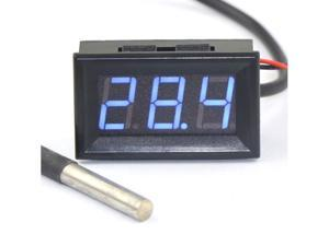 Car Digital Auto Inside Outside Temp Thermometer -55-125°c Blue LED Display  Temperature Temp Meter DC 12V