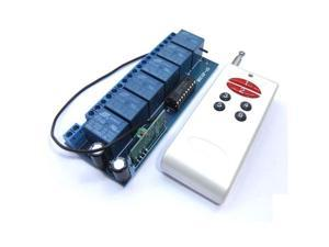 DC 12V Non-Locking Switched Board 6-Channel Relay Wireless Alarm Remote Control Controller