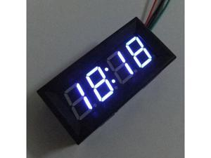Blue LED 12 Volt Digital Display Car Time Clock