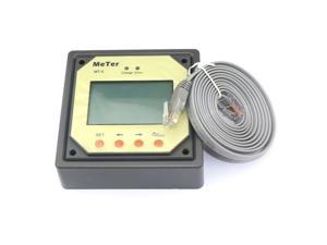 MPPT Solar System Controller Battery Panel Meter Energy Charging Remote Reading LCD Display